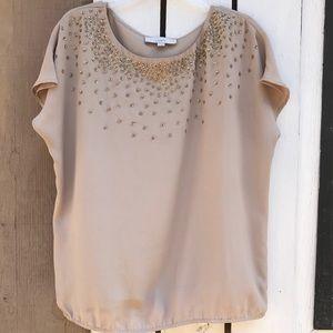 Ann Taylor LOFT sequin embellished blouse